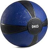 POWRX - Balón Medicinal 9 kg + PDF Workout (BLU Oscuro)