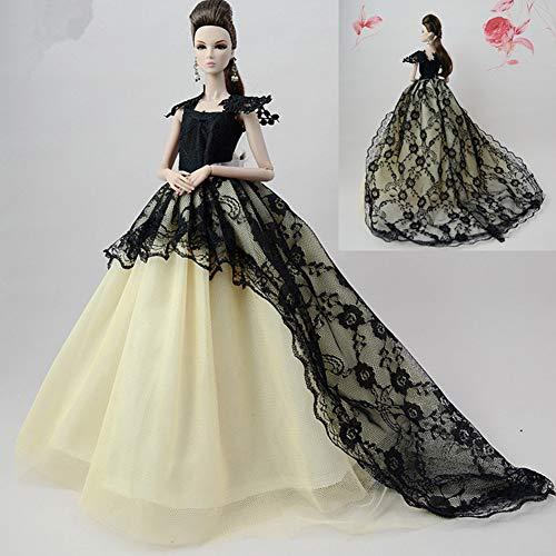 Faironly Hochzeitskleid, Elegantes Abendkleid für 30 cm große Puppen