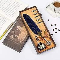 Cafshinu パールシリーズフェザーペン、学校はカスタマイズすることができ、同級生のギフトを送るために、 (Color : E ブルー, Size : フリー)
