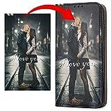 KX-Mobile Personalisierte Hülle für Huawei P30 PRO Handyhülle Smart Magnetic Schwarz mit deinem eigenen Motiv - Dein eigenes Bild Selfie Design Motiv Foto Wunschbild