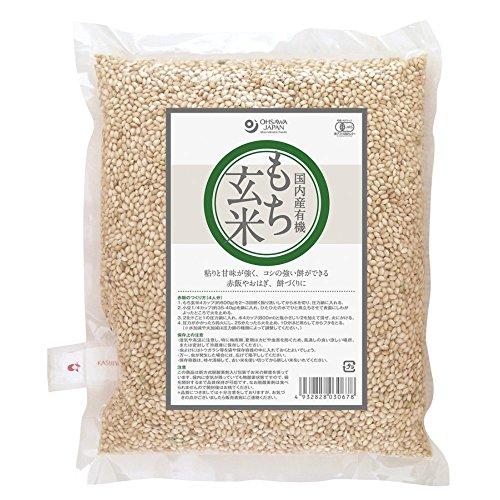 オーサワ 国内産 有機もち玄米 1kg