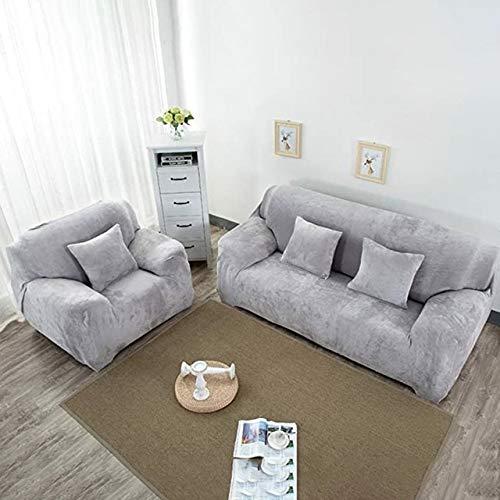 RR&LL fundas de sofá de esquina de color sólido para sala de estar elástico spandex fundas de sofá funda elástica toalla en forma de L