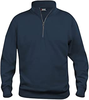 Mens 1/4 Zip Sweatshirt- Quarter Zip Sweater- Plain Colour- No Logo- 7 Colours- S-5XL
