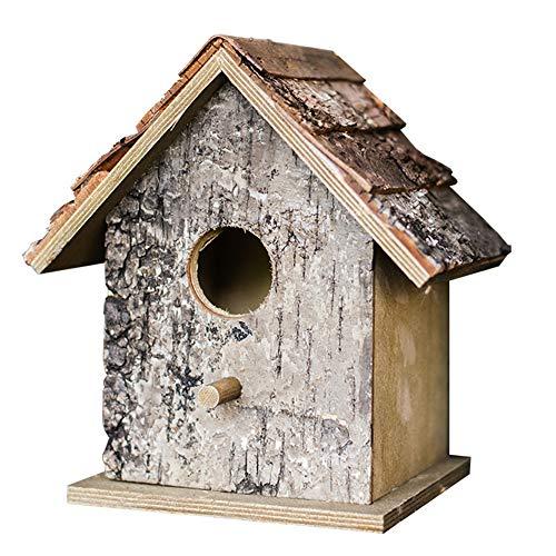 WUYANJUN Casette per Uccelli da Giardino Decorazione Creativa Mangiatoia per Uccelli in Legno per Esterni Bird House, per Giardino Esterno Villa con Giardino.