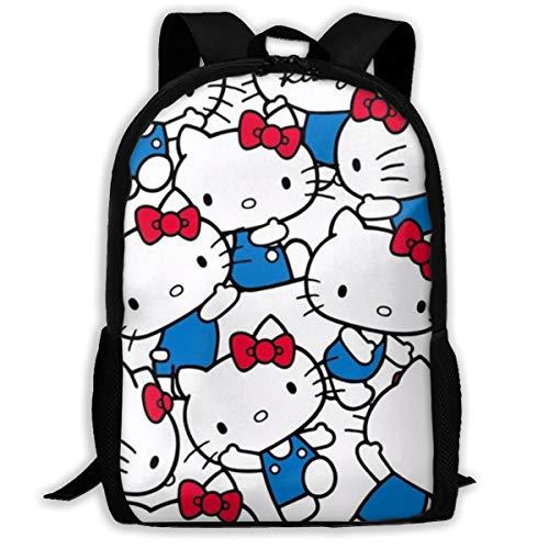 Mochila para la Escuela, diseño de Hello Kitty, Color Azul
