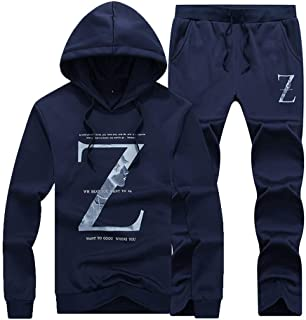 Men's Sweatsuit Pullover Floral Wild Tracksuit Outfit