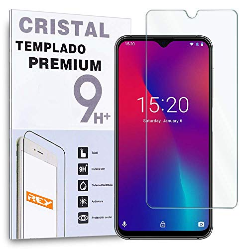 REY Protector de Pantalla para UMIDIGI One MAX - UMIDIGI Power, Cristal Vidrio Templado Premium
