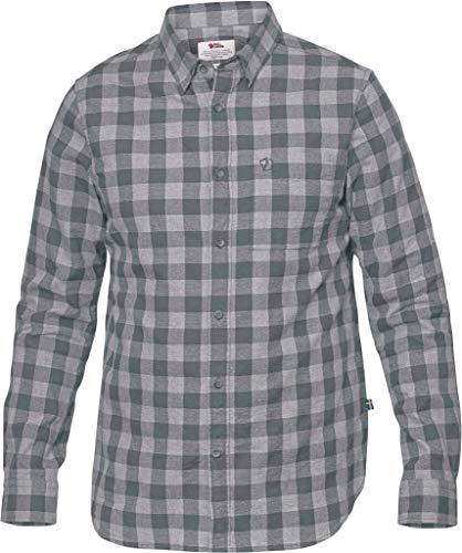FJÄLLRÄVEN Övik Check Shirt LS M Hemd Shirt Halskette Langarm Baumwolle - Hemden und T-Shirts (Hemd, Erwachsene, Männer, Grau, Bedruckt S grau (Thunder Grey)