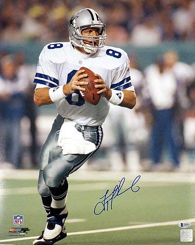 Troy Aikman Dallas Cowboys NFL Hand Signed 16x20 Photo