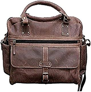 TUZECH 16L Genuine Buffalo Leather Bag Handmade/Satchel/Unisex Shoulder Bag