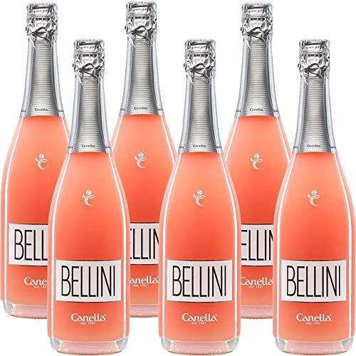 Bellini | Cannella | Cocktail di Venezia | La Dolce Vita Italiana | 6 Bottiglie 75Cl | Spumante Brut...