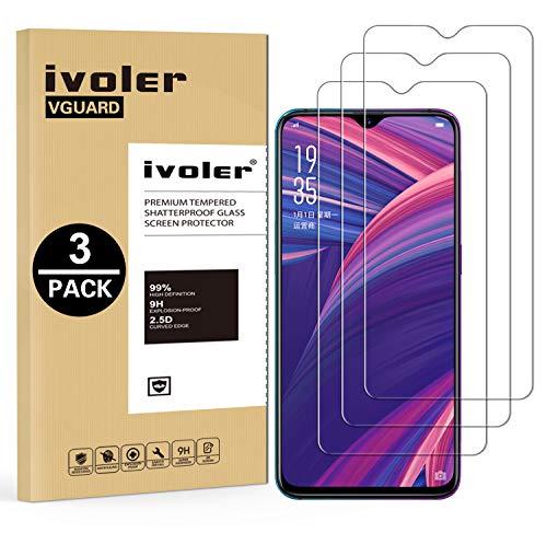 VGUARD [3 Unidades] Protector de Pantalla para OPPO RX17 Pro, Cristal Vidrio Templado Premium para OPPO RX17 Pro