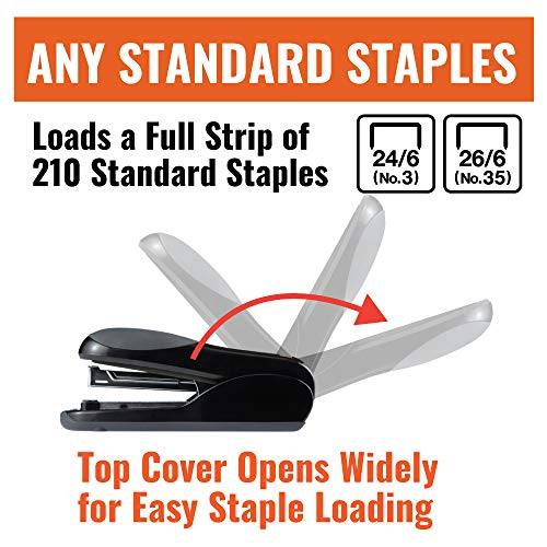 Max Flat-Clinch Black Standard Stapler with 30 Sheet Capacity (HD-50DFBK) Photo #4