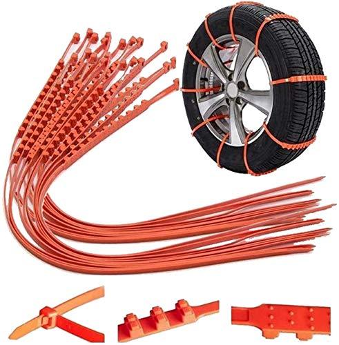 YUYIHAN Cadenas Antideslizantes universales para automóviles Neumático de Rueda de Barro de Nieve Bridas para neumáticos de Coche/camión