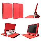Smart Standing Leather Cover With Sleep Mode For Lenovo Yoga Tablet2 10 (NOT fit Lenovo IdeaPad Yoga Tablet 10, 1st Gen or Lenovo IdeaPad Yoga Tablet 10 HD+)- Red
