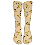 XINYE-socks Mens Music Saxophone Cartoon Pattern Fashion Stocking Socks Athletic Sock Long Sock One Size