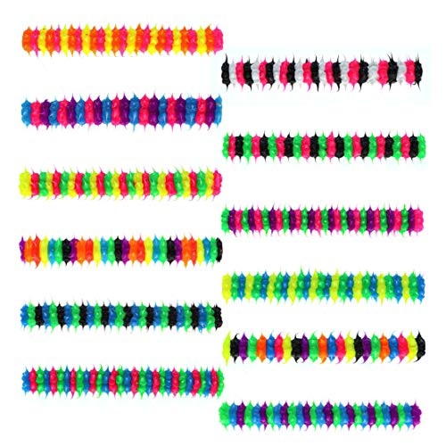 Pencil Grip for Kids (12 Pack) Spiky Silicone Writing Aid Set - Pencil Holders - Great Party Favors for Boys & Girls by Spikeez USA (Striped)