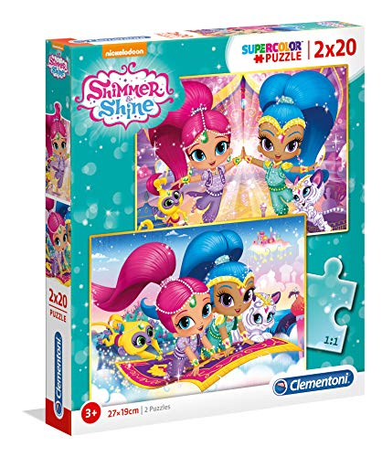 Clementoni spa - Pack Puzzles 2x20 Piezas Shimmer