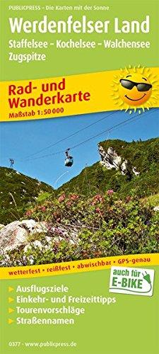 Werdenfelser Land, Staffelsee - Kochelsee - Walchensee - Zugspitze: Rad- und Wanderkarte mit Ausflugszielen, Einkehr- & Freizeittipps, Straßennnamen, ... 1:50000 (Rad- und Wanderkarte: RuWK)