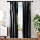 AmazonBasics Room Darkening Blackout Window Curtains with Tie Backs Set, 52' x...