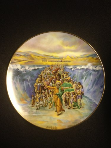 """""""The Parting of the Red Sea"""" By Artist Yiannis Koutsis Collector Plate IV of the Bible Series """"The Promised Land"""""""