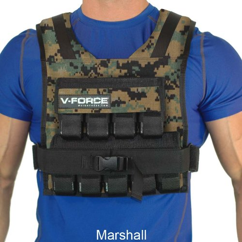 Weight Vest 45 Lb. V-Force Made in USA