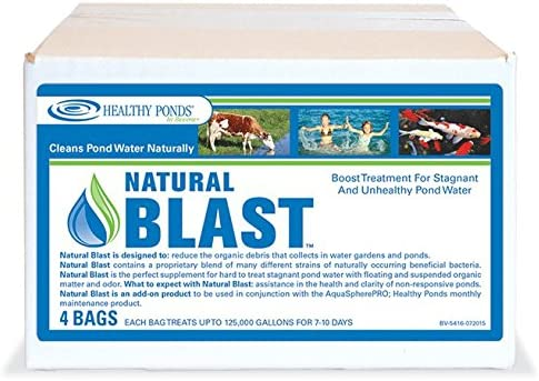 Healthy Ponds Natural Blast Pond Water Cleaner 4 Water Soluble Packets Each Packet Treats up product image