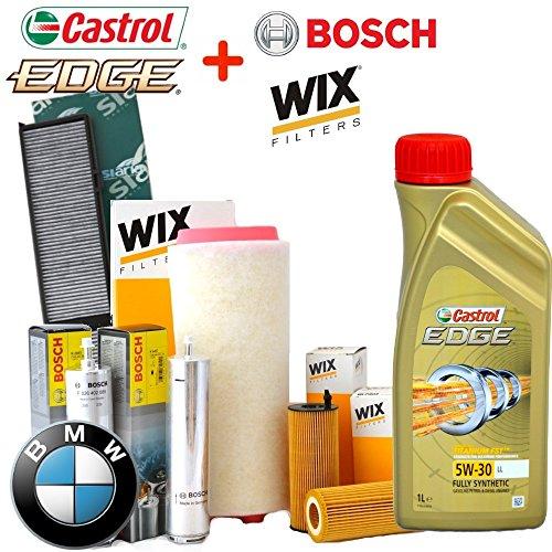 Kit Tagliando 4filtros Varios + 6lt Aceite Castrol Edge 5W30