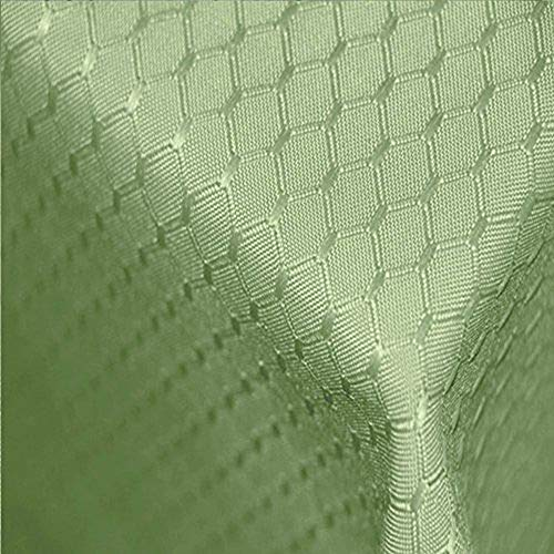 Tektrum Heavy Duty 70 X 70 inch Square Elegant Waffle Weave Check Jacquard Tablecloth Table Cover -Waterproof/Stain Resistant/Wrinkle Free - Great for Dinner, Parties, Wedding (Light Sage Green)