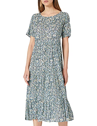 Only Onlabigail Life S/S Midi Dress Wvn Noos Vestido, Azul Oscuro, 38 para Mujer