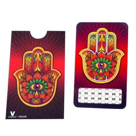 Imagen del producto V-Syndicate Grinder Card – Grinder Hamsa – El molinillo/triturador/rallador perfecto en formato tarjeta de crédito – para hierbas y tabaco