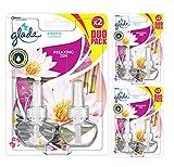 Glade J312581 - Set de 2 Recambios para Ambientador Eléctrico Líquido con Aceites Esenciales, Aroma Relax Zen, hasta 100 Días [Pack de 3]