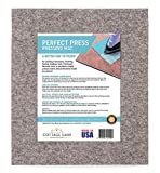 Cottage Lane Wool Pressing Mat – Wool Ironing Pad for Quilters, Large, 16 x 14 Inches - Made in USA - 100% Real Wool, Quilting Supplies, Portable Ironing Board, Tabletop Sewing Notions