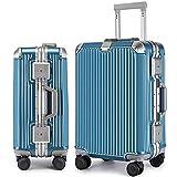 【Amazon限定ブランド】マット加工 アルミニウムマグネシウム合金フレーム スーツケース 機内持ち込みスーツケース トラベルバッグ キャリーバッグ TSAロック 静音キャスター6016 (ミントグリーン, L)