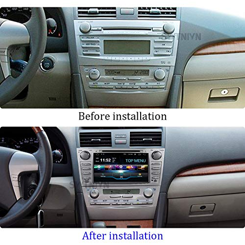 SWTNVIN Camry 2007 2008 2009 2010 2011 Car Stereo Android 9.0 Double Din in-Dash 8 Inch Touch Screen SMultimedia Receiver with Bluetooth GPS Navigation Radio Audio DVD Player Steering Wheel(no camera)
