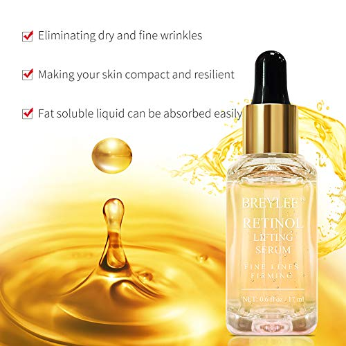 51gEOq07kNL - Retinol Serum, BREYLEE Anti Aging Anti Wrinkle Face Serum Vitamin A Retinol with Natural Ingredients for Skin Care Eye Care Fade Lines Acne Scars Dark Spots (17ml, 0.6 Fl Oz)