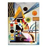 Giallobus - Cuadro - Impresion en Vidrio acrílico de plexiglás Kandinsky - Cuadro Abstracto OSCILACIÓN - Pinturas Modernas de plexiglás - Varios formatos - 50 x 70 CM