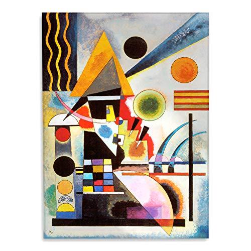 Giallobus - Cuadro - Impresion en Vidrio acrilico de plexiglas Kandinsky - Cuadro Abstracto OSCILACIÓN - Pinturas Modernas de plexiglas - Varios formatos - 50 x 70 CM