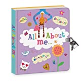 """Peaceable Kingdom All About Me 6.25"""" Lock and Key, Lined Page Diary for Kids"""