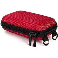 Baxxtar Pure S - Funda rígida para cámara digital (6 x 2,5 x 9,9cm) con trabilla para el cinturón y correa bandolera, color rojo