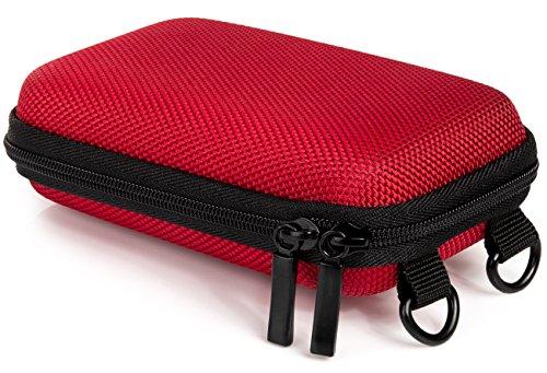 Baxxtar Pure S - Funda rígida para cámara Digital con trabilla para el cinturón y Correa Bandolera - Color Rojo (6 x 2,5 x 10,5cm)