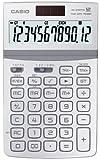 Casio JW-200TW-WE Calcolatrice da Tavolo, Display a 12 Cifre, Struttura in Metallo, Bianco...