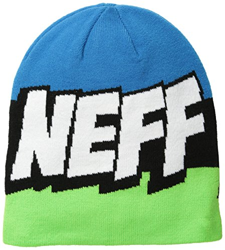 NEFF Cartoon Bonnet Mixte Adulte, Slime Black Cyan, FR Fabricant : Taille Unique