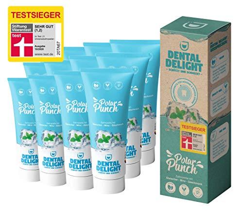 TESTSIEGER (Note 1,2 SEHR GUT) | 12x Zahnpasta Polar Punch Minze-Gletscher von DENTAL DELIGHT | vegan klimaneutral ohne Mikroplastik