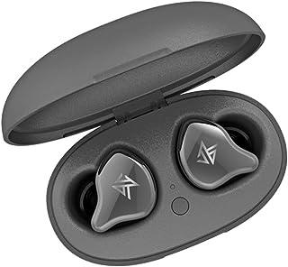 KZ Hörlurar stereo Bluetooth 5.0 trådlös beröringskontroll hörlurar dynamic hybrid driver headset fullt lager – grå
