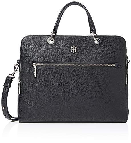 Tommy Hilfiger Women's TH ESSENCE COMPUTER BAG, Black, One Size