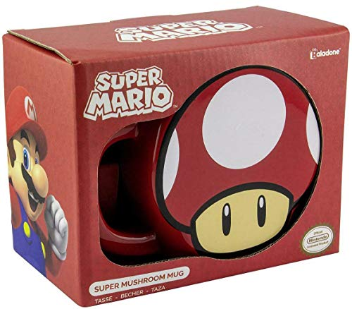 for-collectors-only Super Mario mok Mushroom paddenstoel beker Nintendo 3D Shape Mushroom mok koffiemok koffiemok