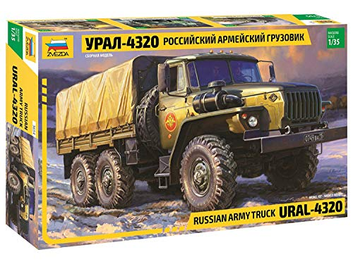 ZVEZDA 500783654 - 1:35 Ural 4320 - Russischer Truck, Modellbau, Bausatz, Standmodellbau, Hobby, Basteln, Plastikbausatz
