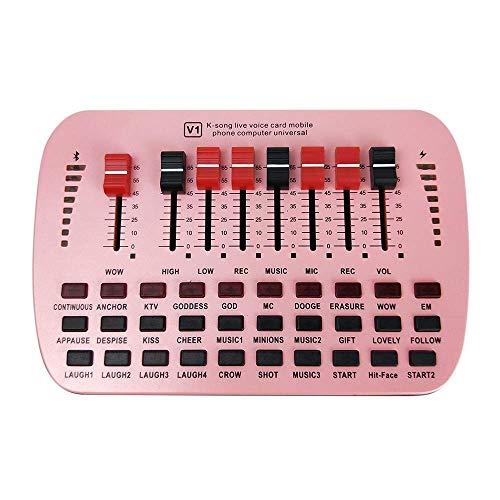HAIFENG Soundkarten-Universal-Volume-Soundkarte Handy-Universal Computer Anker Außen Karaoke einstellbar USB External Audio Mixer...