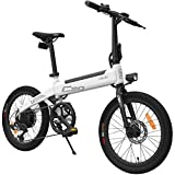 HIMO C20 Bicicleta eléctrica para Adultos, Bicicletas E 10Ah 250W 20 Pulgadas con Shimano 6 velocidades 3 Modos de conducción Velocidad máxima 25 km/h para Hombres Mujeres (Blanco)